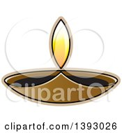 Clipart Of A Lit Oil Lamp Royalty Free Vector Illustration by Lal Perera