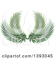 Clipart Of A Palm Leaf Branch Design Royalty Free Vector Illustration
