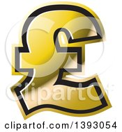Clipart Of A Gold Lira Currency Symbol Royalty Free Vector Illustration