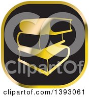Clipart Of A Black And Gold Book Icon Royalty Free Vector Illustration by Lal Perera