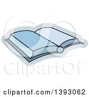 Clipart Of An Open Book Royalty Free Vector Illustration by Lal Perera