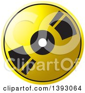 Clipart Of A Gold Cd Or Dvd Royalty Free Vector Illustration
