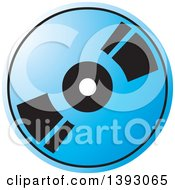 Clipart Of A Blue Cd Or Dvd Royalty Free Vector Illustration