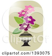 Clipart Of A Vase Of Flowers Icon Royalty Free Vector Illustration by Lal Perera