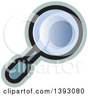 Clipart Of A Magnifier Royalty Free Vector Illustration by Lal Perera