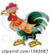 Clipart Of A Rooster Royalty Free Vector Illustration