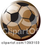 Clipart Of A Bronze Soccer Ball Royalty Free Vector Illustration by Lal Perera