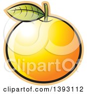 Clipart Of A Navel Orange Royalty Free Vector Illustration