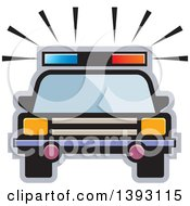 Clipart Of A Police Car Royalty Free Vector Illustration by Lal Perera