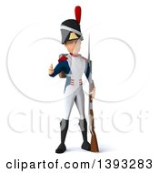 Clipart Of A 3d Napoleonic Soldier On A White Background Royalty Free Illustration