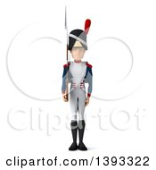 Clipart Of A 3d Napoleonic Soldier On A White Background Royalty Free Illustration by Julos