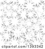 Seamless Grayscale Flower Background Pattern