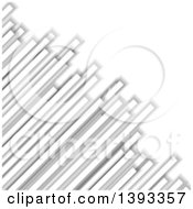 Clipart Of A Grayscale Columns Background Royalty Free Vector Illustration