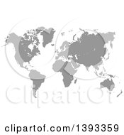Clipart Of A Grayscale World Atlas Map Royalty Free Vector Illustration