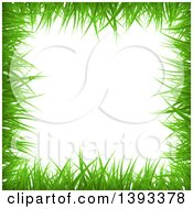 Clipart Of A Grass Border Frame Royalty Free Vector Illustration