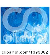 Poster, Art Print Of Blue Acrylic Paint Background