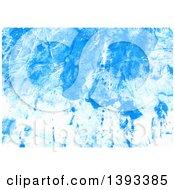 Poster, Art Print Of Blue Gouache Paint Background