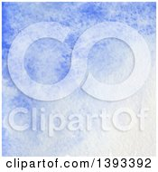 Poster, Art Print Of Blue Watercolor Paint Background