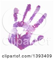 Clipart Of A Purple Paint Hand Print Royalty Free Vector Illustration by vectorace