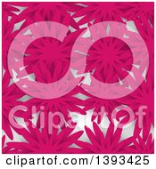 Seamless Pink Flower Background Pattern