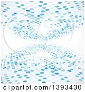 Background Of Blue Halftone On White