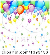 Clipart of a Colorful Party Balloon Background - Royalty Free Vector Illustration by vectorace #COLLC1393436-0166