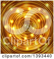 Clipart of a Gold Radial Background - Royalty Free Vector Illustration by vectorace #COLLC1393440-0166