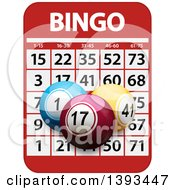 Clipart Of A Bingo Card And 3d Balls Royalty Free Vector Illustration