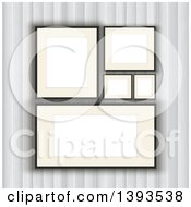 Clipart Of A Wall With Blank Picture Frames Royalty Free Vector Illustration by KJ Pargeter