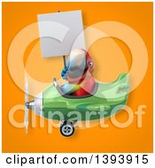 Clipart Of A 3d Scarlet Macaw Parrot On An Orange Background Royalty Free Illustration