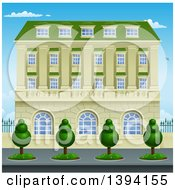 Clipart Of A Victorian Or Georgian Building Or Mansion Royalty Free Vector Illustration