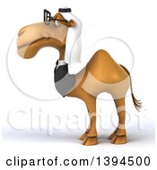 Clipart Of A 3d Arabian Business Camel On A White Background Royalty Free Illustration