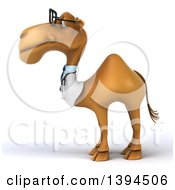 Clipart Of A 3d Doctor Or Veterinarian Camel On A White Background Royalty Free Illustration