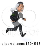 Clipart Of A 3d Young Arabian Businessman Holding A Blackberry On A White Background Royalty Free Illustration