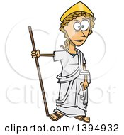 Clipart Of A Cartoon Greek Goddess Hera Royalty Free Vector Illustration