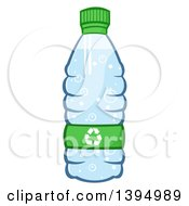 Clipart Of A Cartoon Bottled Water With A Recycle Symbol Royalty Free Vector Illustration by Hit Toon