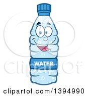 Clipart Of A Cartoon Bottled Water Mascot Royalty Free Vector Illustration