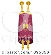 Clipart Of A Jewish Torah With Gold Elements Royalty Free Vector Illustration by Liron Peer