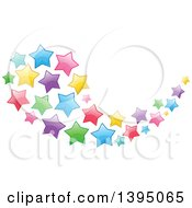Clipart Of A Colorful Swoosh Cluster Of Stars Royalty Free Vector Illustration by Liron Peer