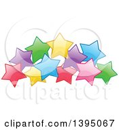 Clipart Of A Colorful Cluster Of Stars Royalty Free Vector Illustration by Liron Peer
