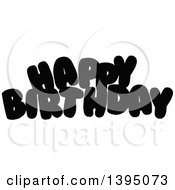 Black Happy Birthday Letters