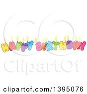 Clipart Of Happy Birthday Candle Letters Royalty Free Vector Illustration