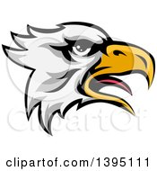 Clipart Of A Cartoon Bald Eagle Head Royalty Free Vector Illustration by AtStockIllustration