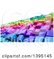 Background Of 3d Colorful Cubes Resembling A Crowded Cityscape