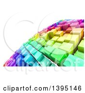 Clipart Of A Background Of 3d Colorful Cubes Resembling A Crowded Cityscape Royalty Free Illustration by KJ Pargeter