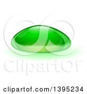 Clipart Of A Reflective Green Biofuel Or Slime Droplet Royalty Free Vector Illustration by dero