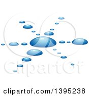 Clipart Of A Blue Water Splash Royalty Free Vector Illustration