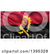 Clipart Of A 3d Waving Angola Flag Royalty Free Illustration