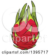 Clipart Of A Pitaya Dragon Fruit Royalty Free Vector Illustration