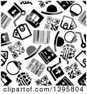 Clipart Of A Seamless Background Pattern Of Shopping Icons Royalty Free Vector Illustration by Vector Tradition SM